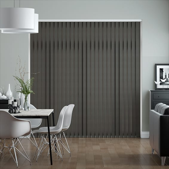 Obscura Slate Grey  Vertical Blind