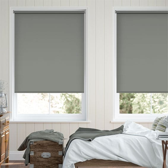 Obscura Smooth Grey Roller Blind