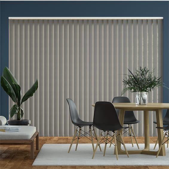 Obscura Smooth Grey Vertical Blind
