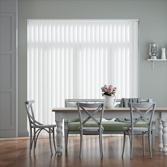 Obscura White Vertical Blind