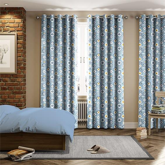 Ocular Sky Blue Curtains