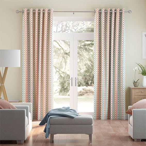 Olympia Faux Silk Prism Curtains