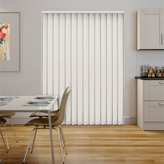 Haven Antique White Blockout Vertical Blind