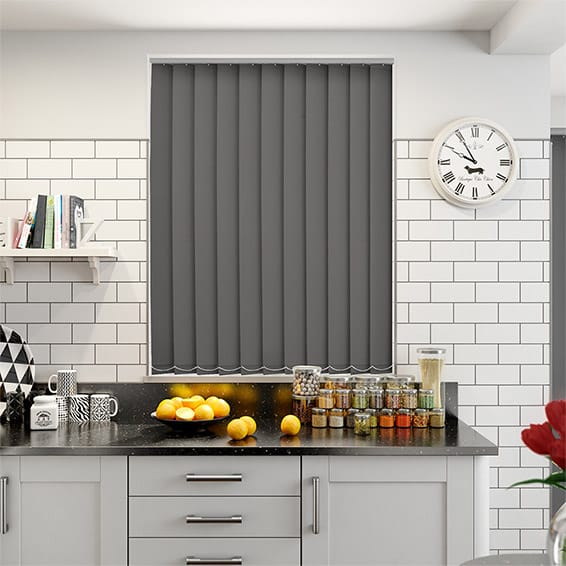 Haven Ironstone Blockout Vertical Blind - 127mm Slat