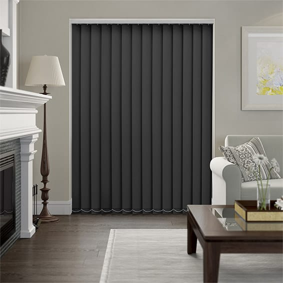 Haven Onyx Blockout Vertical Blind - 127mm Slat