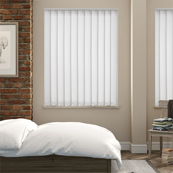 Haven Snow Blockout Vertical Blind - 127mm Slat