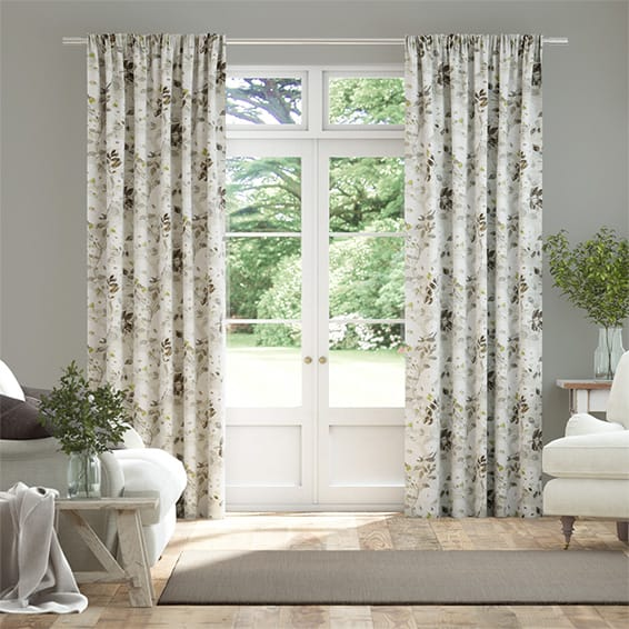 Paeonia Linen Neutral Curtains