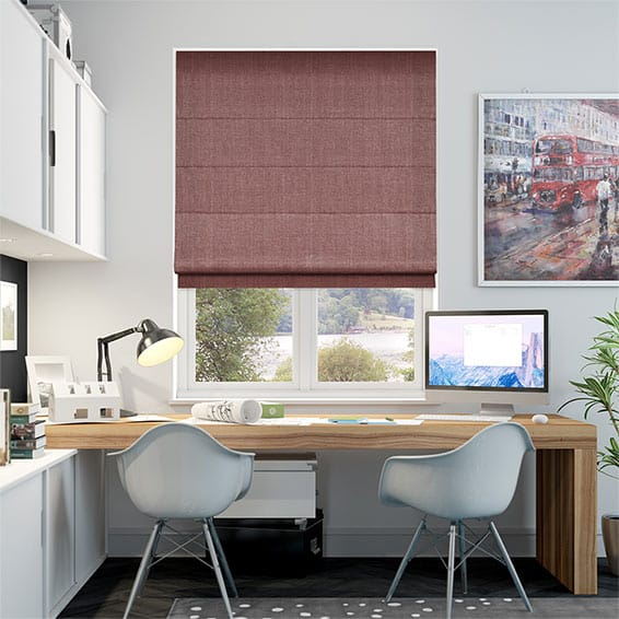 Paleo Linen Berry Red Roman Blind