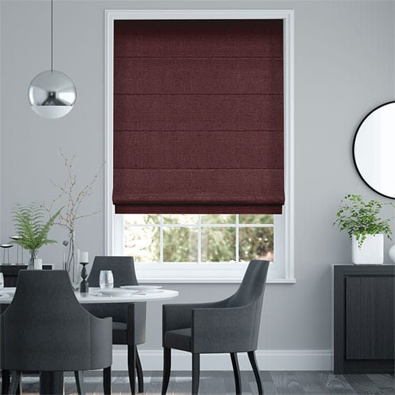 Paleo Linen Ruby Red  Roman Blind