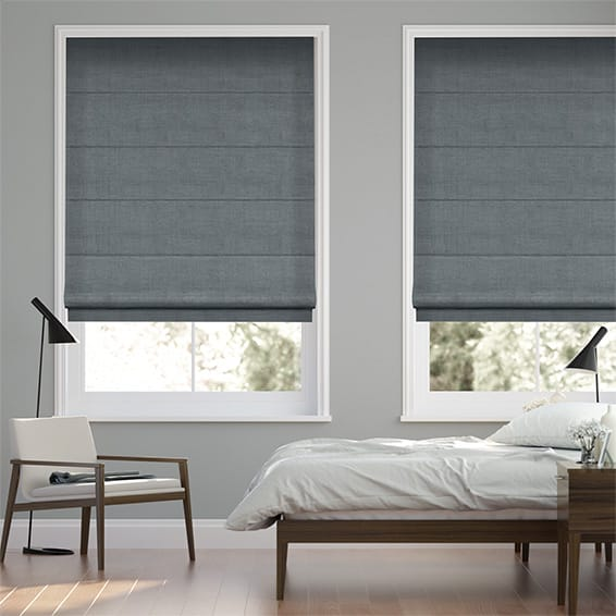 Paleo Linen Winter Blue  Roman Blind