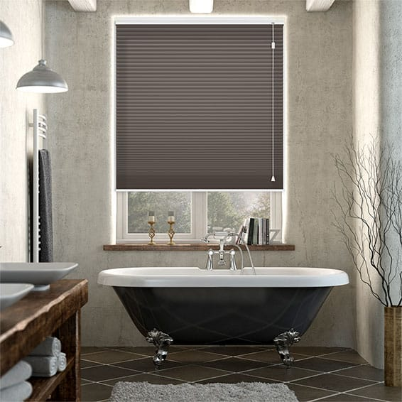 HoneyShade Dark Cocoa Pleated Blind