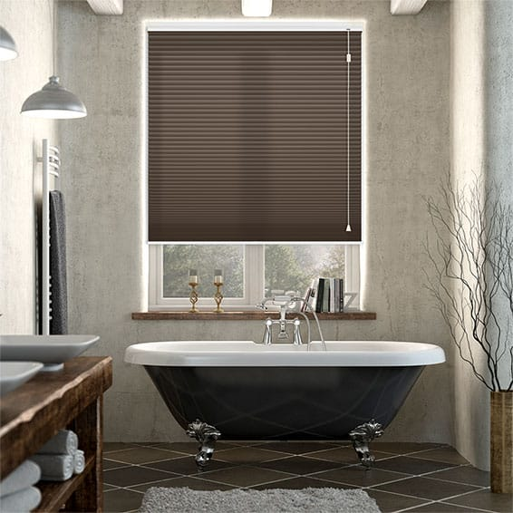 HoneyLight Dark Cocoa Pleated Blind