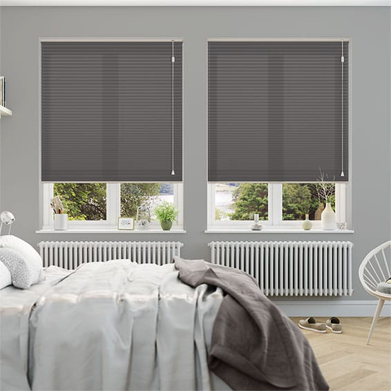 HoneyLight Anthracite Pleated Blind