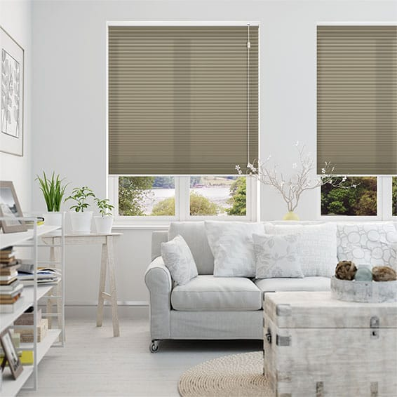 HoneyLight Earth Pleated Blind