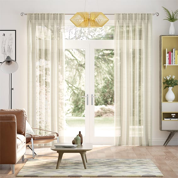 Paraiso Voile Champagne Curtains