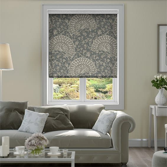 Peacock Mineral Grey Roller Blind