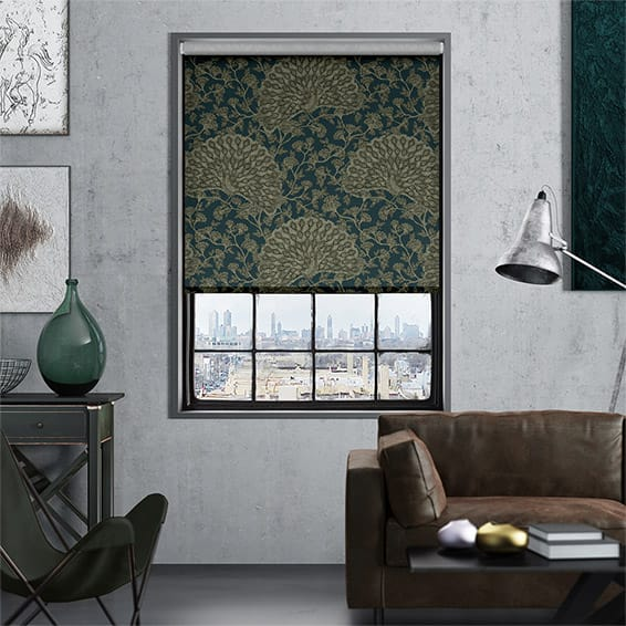 Peacock River Moss Roller Blind