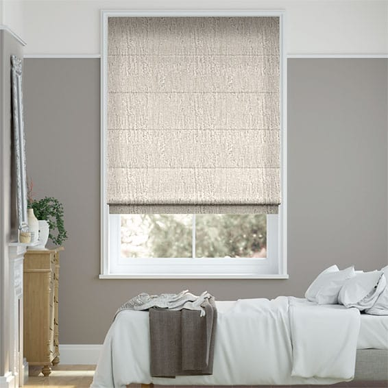 Perseus Pale Granite Roman Blind