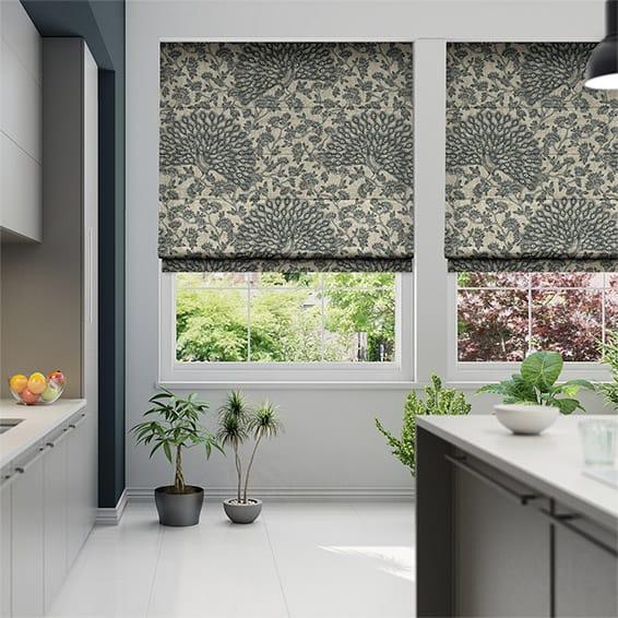 london blind look beige bottom with measure blinds to light linen made flat in bespoke blackout a metallic bar roller