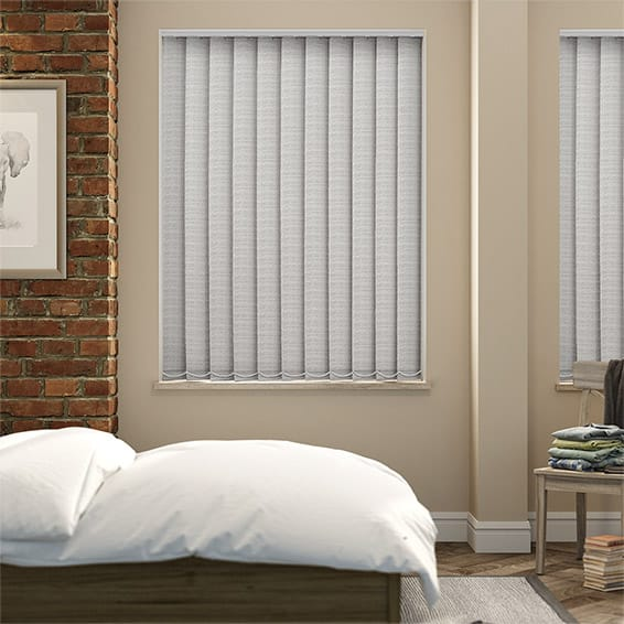 Oasis Concrete Blockout Vertical Blind - 127mm Slat