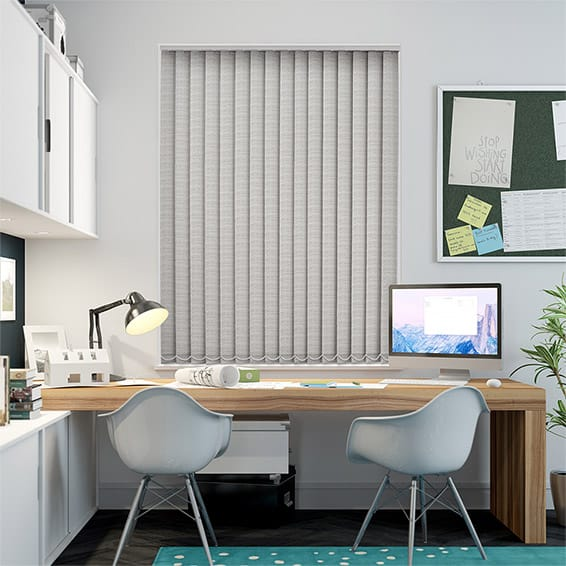Oasis Concrete Blockout Vertical Blind - 89mm Slat