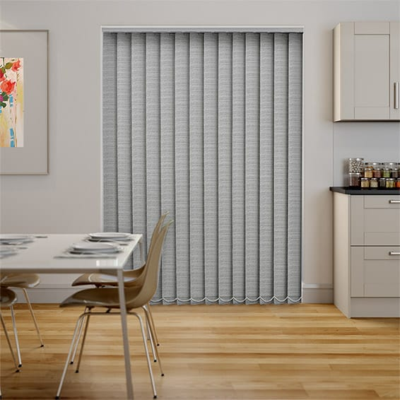 Oasis Dove Blockout Vertical Blind - 127mm Slat