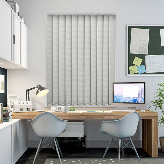 Oasis Putty Blockout Vertical Blind - 127mm Slat