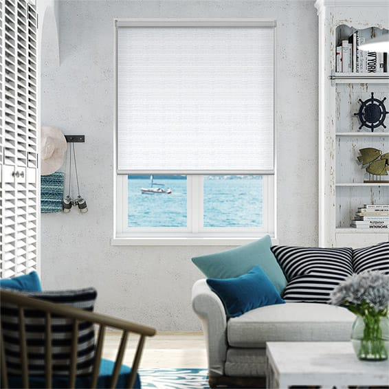 Oasis White Blockout Roller Blind