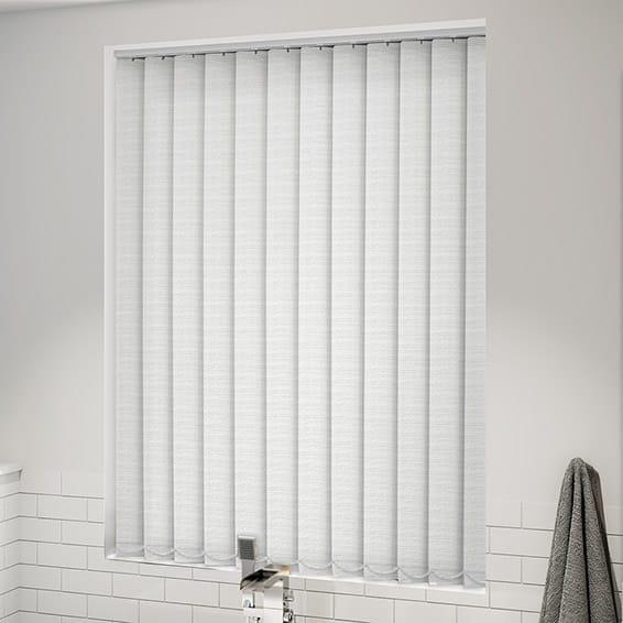 Oasis White Blockout Vertical Blind 127mm Slat Blinds