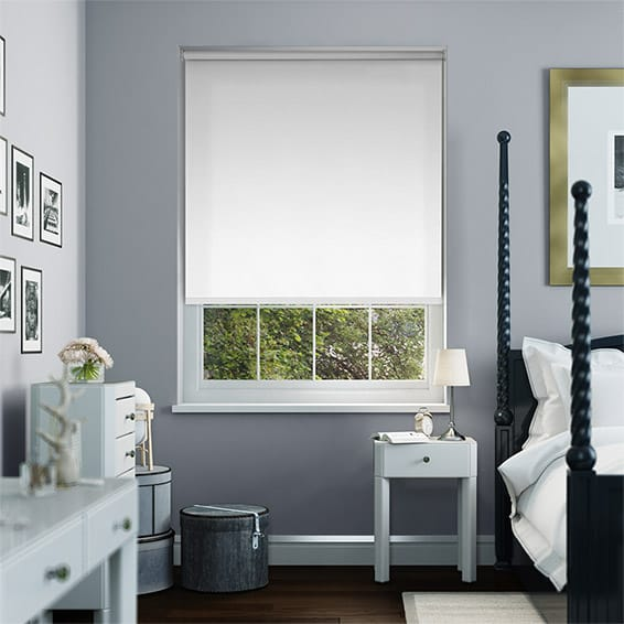 Prism Pure White Blockout Roller Blind