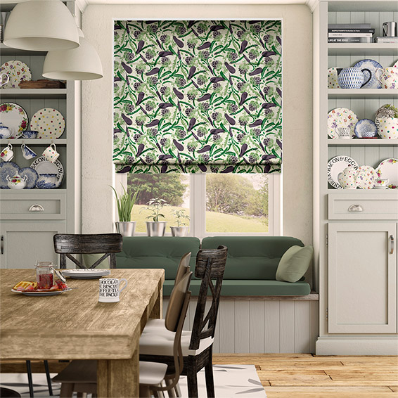 Purple Veg Multi Roman Blind