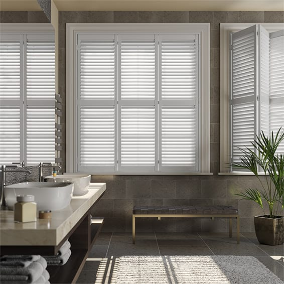 Sacramento Pure White Advanced Polymer Plantation Shutter