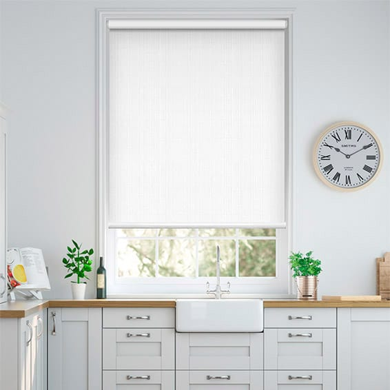 Moda White Blockout Roller Blind