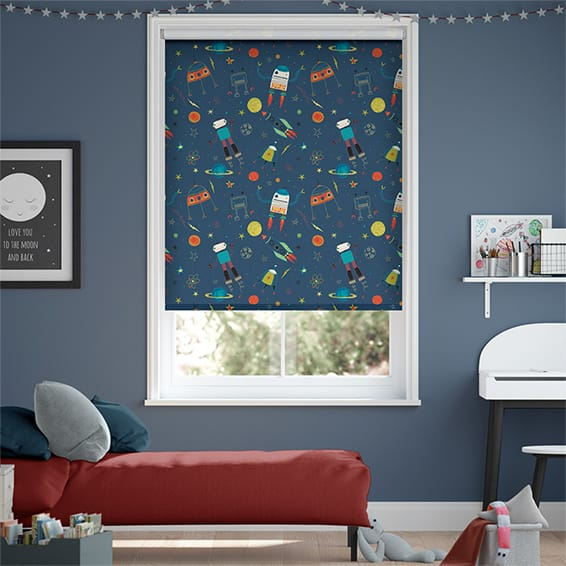 Robbie Robonaut Space Blue Blockout Roller Blind