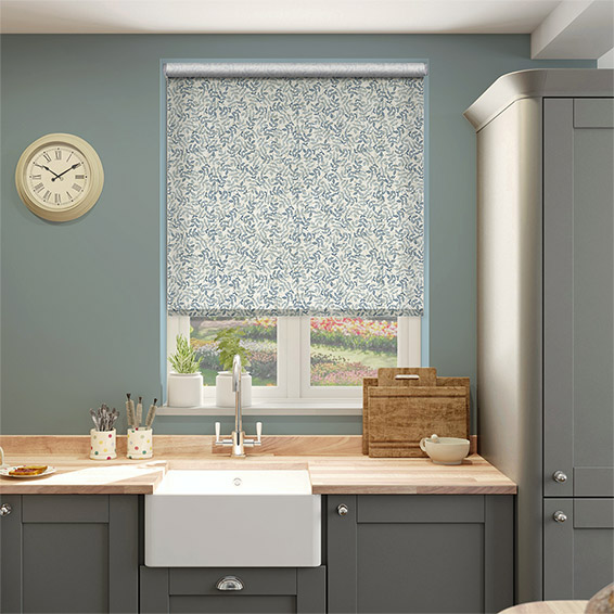 Choices Rosehip Leaf Blue Roller Blind