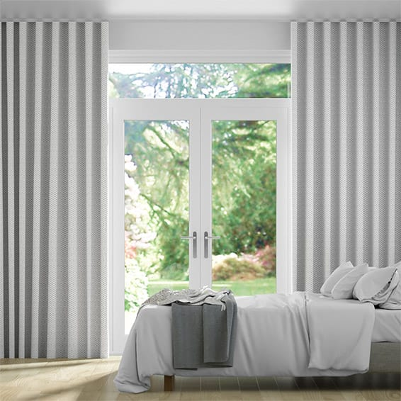 S-Fold Elision Silver Curtains