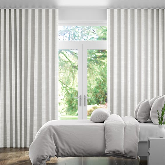 S-Fold Emperor Faux Silk Snow Curtains