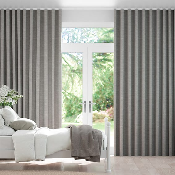 S-Fold Harrow Mid Grey Curtains