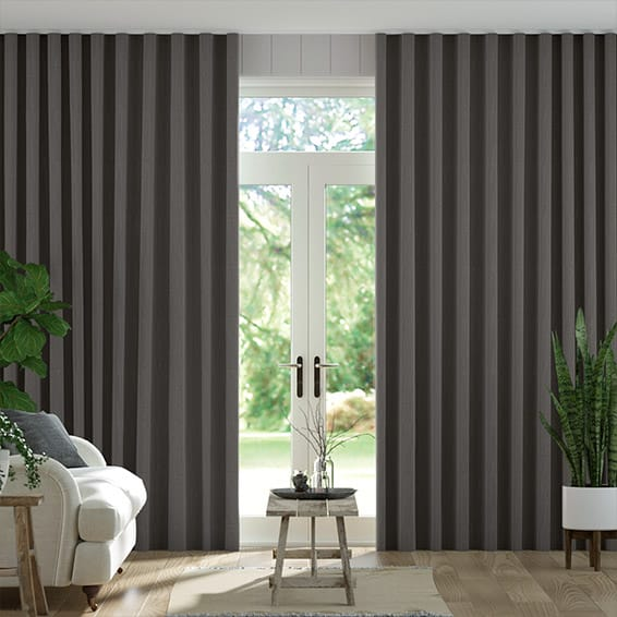 S-Fold Paleo Linen Vapour Grey  Curtains