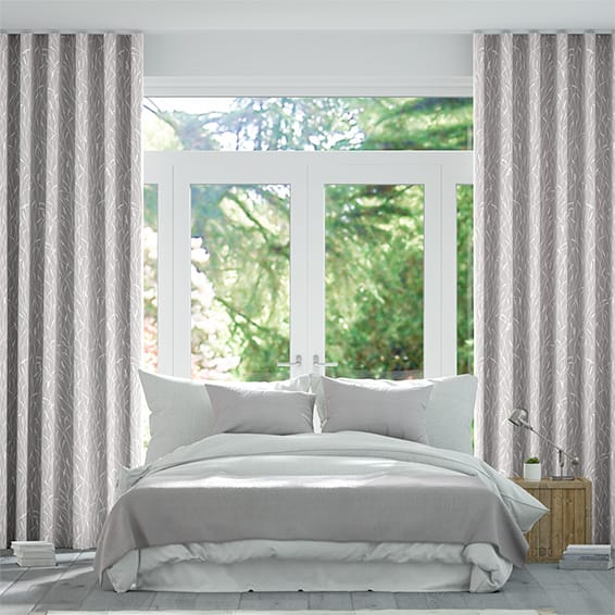 S-Fold Timothy Grass Dove Curtains