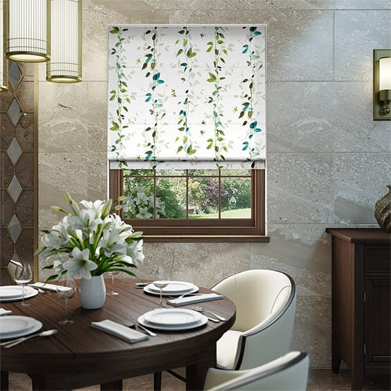 Secret Garden Bluegrass Roman Blind