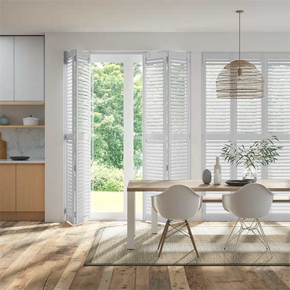 Sherbrooke Egg Shell Shutter Blinds