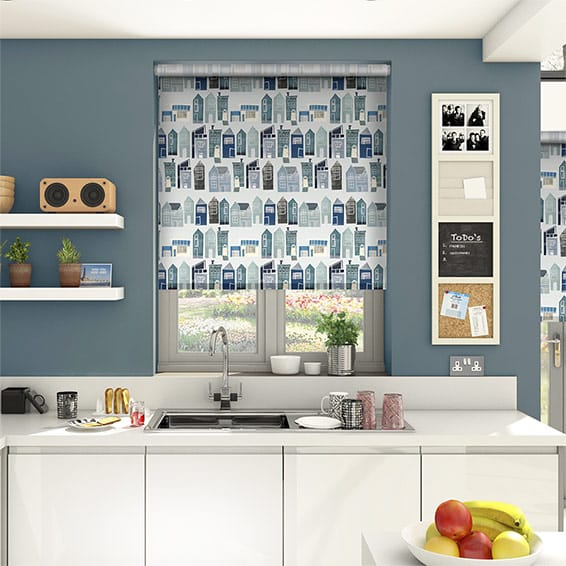 Sherwood Blue Medley Roller Blind