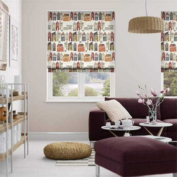 Sherwood Summer Berry Roman Blind