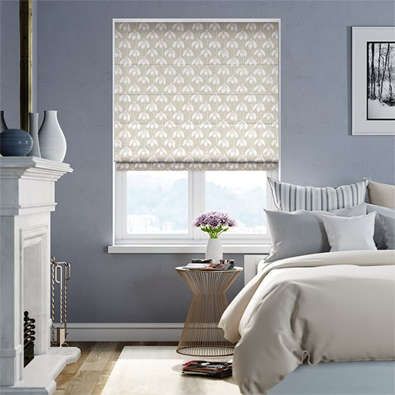 Snowdrop Birch Roman Blind