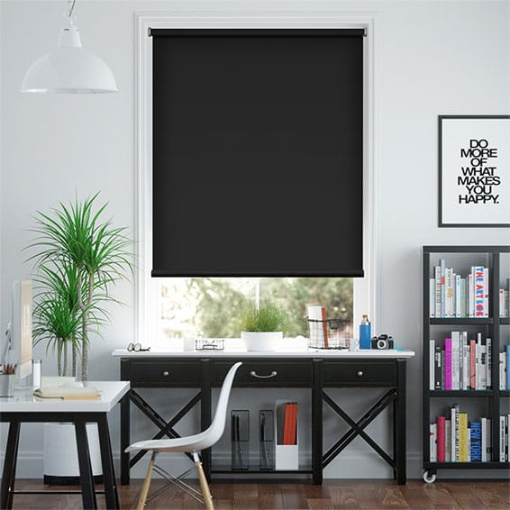 Solace Black Roller Blind