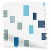 Splash Bricks Cool Blue Roller Blind slat image