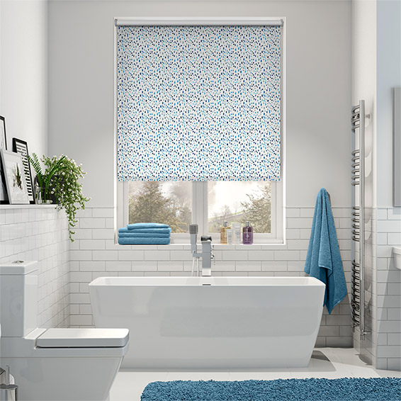 Splash Bricks Cool Blue Roller Blind