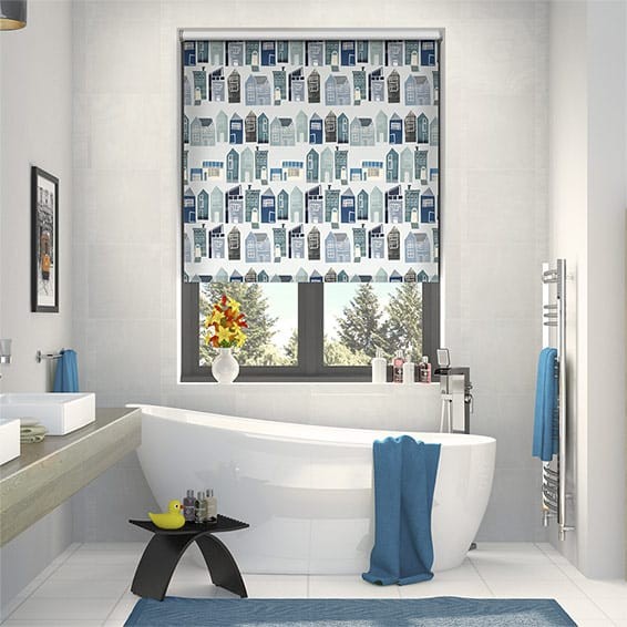 Splash Sherwood Blue Medley Roller Blind