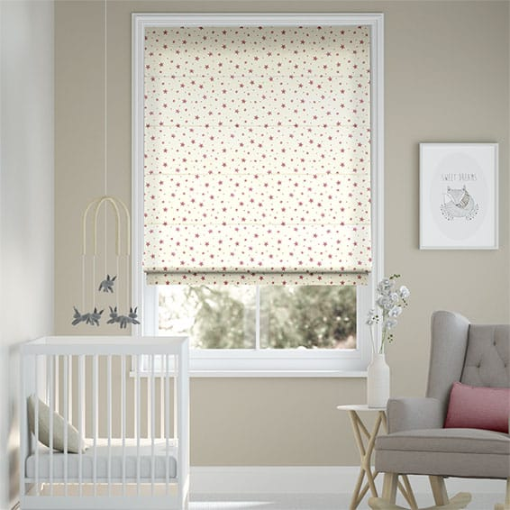 Starry Skies Rose Pink Roman Blind